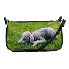 Bedlington Terrier Sleeping Shoulder Clutch Bags