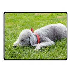 Bedlington Terrier Sleeping Fleece Blanket (Small)