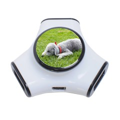 Bedlington Terrier Sleeping 3-Port USB Hub