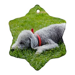 Bedlington Terrier Sleeping Ornament (Snowflake)
