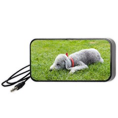 Bedlington Terrier Sleeping Portable Speaker (Black)