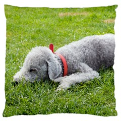 Bedlington Terrier Sleeping Large Cushion Case (One Side)