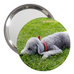 Bedlington Terrier Sleeping 3  Handbag Mirrors