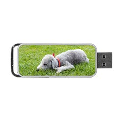Bedlington Terrier Sleeping Portable USB Flash (One Side)