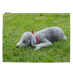 Bedlington Terrier Sleeping Cosmetic Bag (XXL)