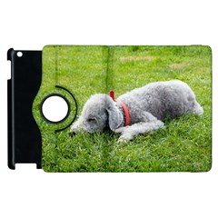 Bedlington Terrier Sleeping Apple iPad 3/4 Flip 360 Case