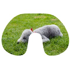 Bedlington Terrier Sleeping Travel Neck Pillows