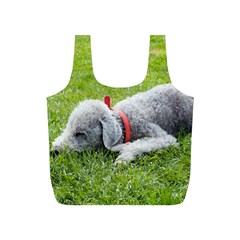 Bedlington Terrier Sleeping Full Print Recycle Bags (S)