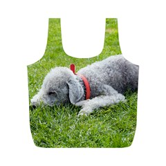 Bedlington Terrier Sleeping Full Print Recycle Bags (M)