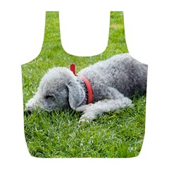 Bedlington Terrier Sleeping Full Print Recycle Bags (L)
