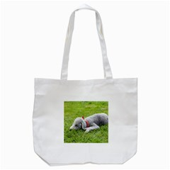Bedlington Terrier Sleeping Tote Bag (White)