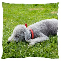 Bedlington Terrier Sleeping Large Flano Cushion Case (One Side)