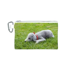 Bedlington Terrier Sleeping Canvas Cosmetic Bag (S)