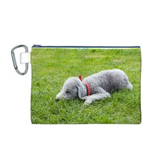 Bedlington Terrier Sleeping Canvas Cosmetic Bag (M)