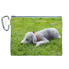 Bedlington Terrier Sleeping Canvas Cosmetic Bag (XL)