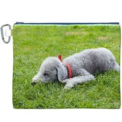 Bedlington Terrier Sleeping Canvas Cosmetic Bag (XXXL)