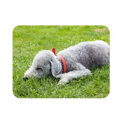 Bedlington Terrier Sleeping Double Sided Flano Blanket (Mini)