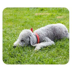 Bedlington Terrier Sleeping Double Sided Flano Blanket (Small)
