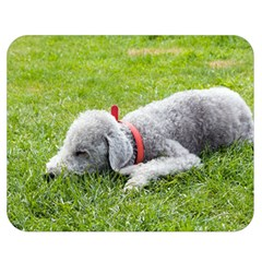 Bedlington Terrier Sleeping Double Sided Flano Blanket (Medium)