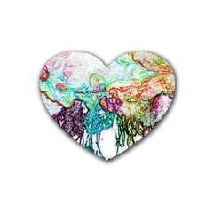 Colors Rubber Coaster (Heart)