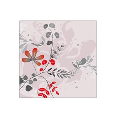 Abstract Illustration Of A Background With Floral And Grunge Satin Bandana Scarf