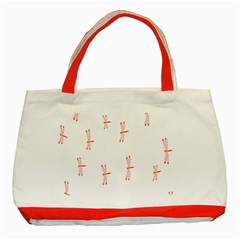 Animal Dragonfly Fly Pink Classic Tote Bag (Red)