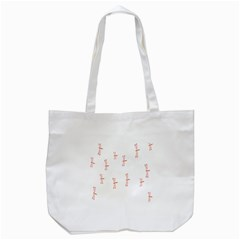 Animal Dragonfly Fly Pink Tote Bag (White)