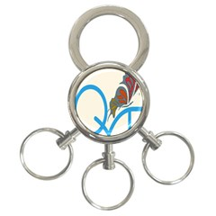 Butterfly 3-Ring Key Chains
