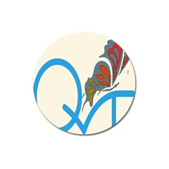 Butterfly Magnet 3  (Round)