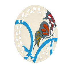 Butterfly Ornament (Oval Filigree)