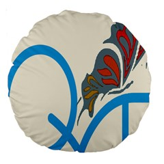 Butterfly Large 18  Premium Round Cushions