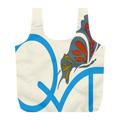 Butterfly Full Print Recycle Bags (L)