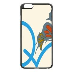 Butterfly Apple iPhone 6 Plus/6S Plus Black Enamel Case