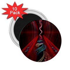 Artistic Blue Gold Red 2.25  Magnets (10 pack)