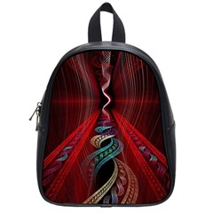 Artistic Blue Gold Red School Bags (Small)