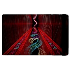 Artistic Blue Gold Red Apple iPad 2 Flip Case