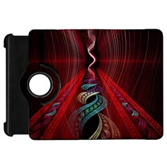Artistic Blue Gold Red Kindle Fire HD 7