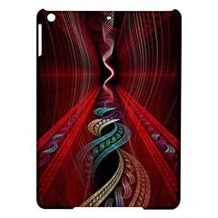 Artistic Blue Gold Red iPad Air Hardshell Cases