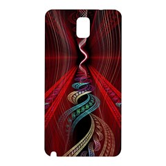 Artistic Blue Gold Red Samsung Galaxy Note 3 N9005 Hardshell Back Case