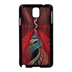 Artistic Blue Gold Red Samsung Galaxy Note 3 Neo Hardshell Case (Black)