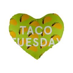 Bread Taco Tuesday Standard 16  Premium Heart Shape Cushions