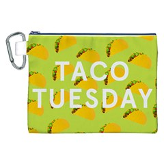 Bread Taco Tuesday Canvas Cosmetic Bag (XXL)