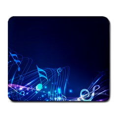 Abstract Musical Notes Purple Blue Large Mousepads