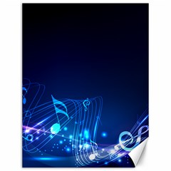 Abstract Musical Notes Purple Blue Canvas 12  x 16