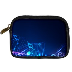 Abstract Musical Notes Purple Blue Digital Camera Cases