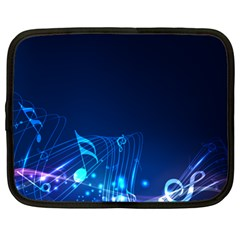 Abstract Musical Notes Purple Blue Netbook Case (xl)