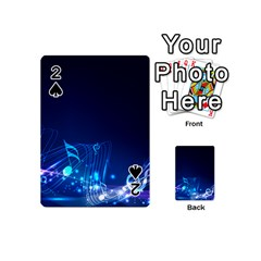 Abstract Musical Notes Purple Blue Playing Cards 54 (Mini)
