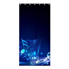 Abstract Musical Notes Purple Blue Shower Curtain 36  x 72  (Stall)