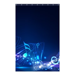 Abstract Musical Notes Purple Blue Shower Curtain 48  x 72  (Small)