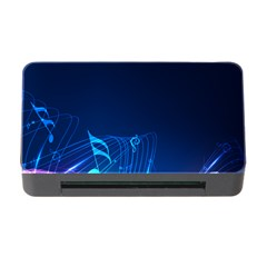 Abstract Musical Notes Purple Blue Memory Card Reader with CF